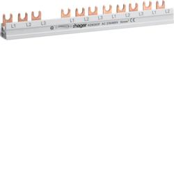 Hager KDN363A Phasenschiene 3polig mit Gabelanschluss 10qmm 63A 12 Module