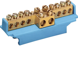 Hager KM07E PE-Klemme für Hutschiene C-Schiene