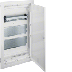 VU36NW UPV-Volta 3 Kommunikationsverteiler,  mit Montageplatten,  Patch-Panel,  Steckdose