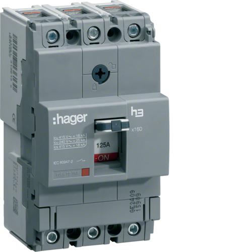 HHA025H Leistungschalter h3 x160 TM ADJ 3P3D  25A 25kA CTC