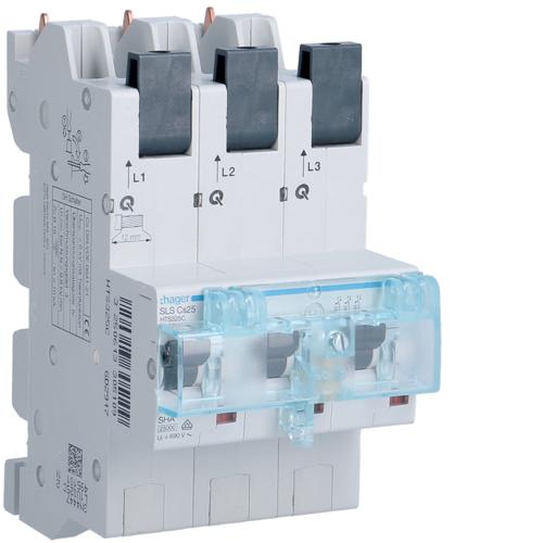HTS325C SLS Schalter 3 polig Cs-Charakteristik 25A für Sammelschiene QuickConnect