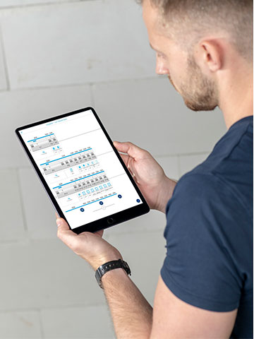 Hager Ready App auf Tablet