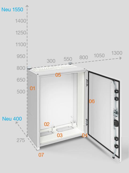 Metallgehäuse Schaltkasten Verteilerschrank Schaltschrank für Mehr Größen
